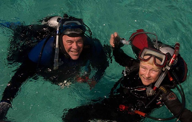 Image right: Mark and Diane Littler (Photo by Barrett L. Brooks)