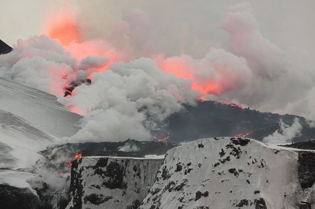Image left: The Icelandic volcano Eyjafjallajökull