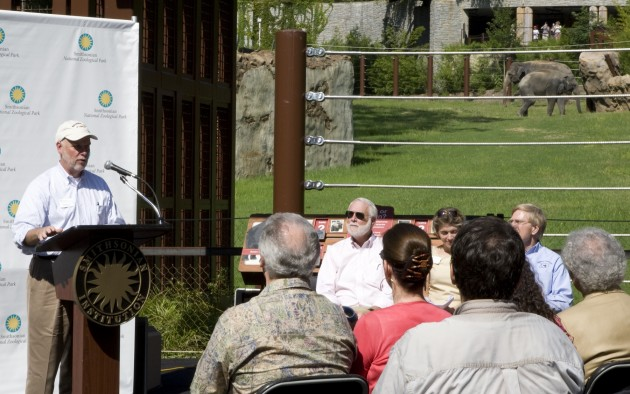 NZP Kelly speaks at Elephant Trails celebration, National Zoological Park