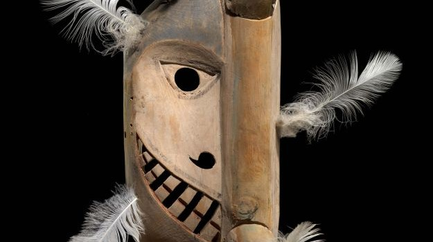 """Yup'ik mask in """"Infinity of Nations"""" exhibition at the American Indian Museum"""