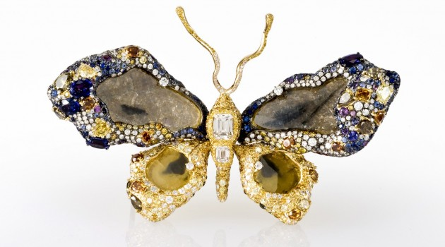 Created in 2009 by Cindy Chao the Royal Butterfly Brooch is a three-dimentional objet d'art set with 2,318 gems totaling near 77 carats. (Photos by Chip Clark)