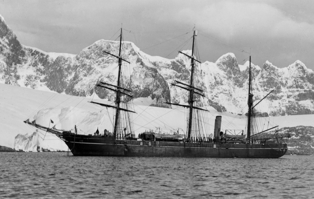 Image left: The RRS Discovery was a key vessel which collected the study species and many other scientific samples from 1901 onwards.