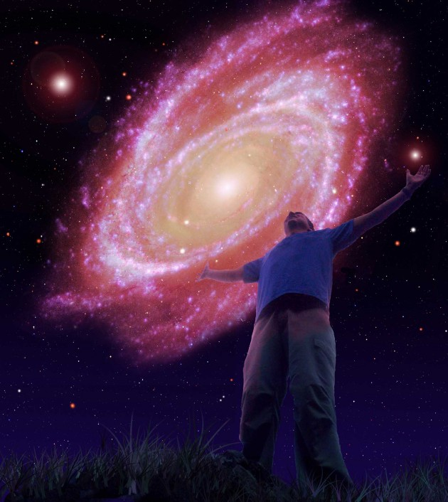 Artist's conception of the cosmic view a trillion years from now. (Credit: David A. Aguilar)