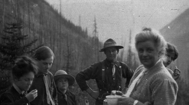 Charles Doolittle Walcott (1850-1927) family campsite in the Canadian Rockies