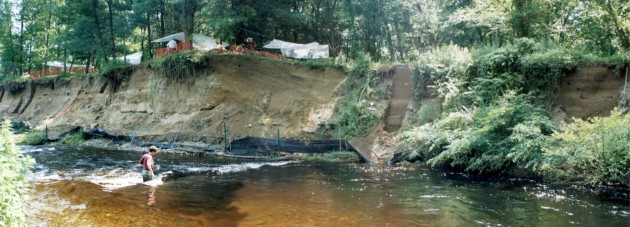 An archaeological research site along the banks of the Raymondskill Creek in the Delaware River Valley. Click photos to enlarge. (Photo courtesy Timothy Messner)