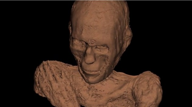 Video: A mummy 'grows' with CT scans and 3D digital technology