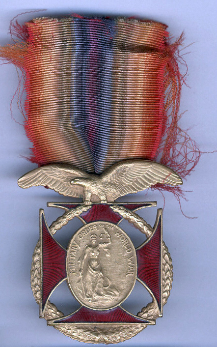 This Order of the World War medal with its colorful ribbon is one of many artifacts in the collections of the Smithsonian's National Air and Space Museum that contain silk.