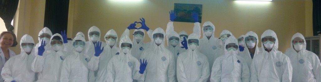Participants of pathology workshop in PPE