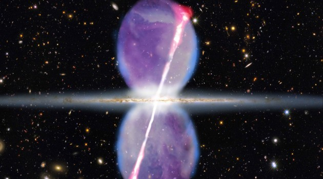 Ghostly gamma-ray beams blast from Milky Way's center