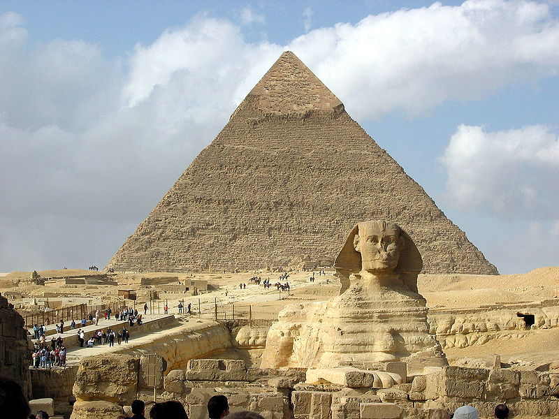Deeply buried sediments in Egypt's Nile Delta document ancient droughts associated with the demise of Egypt's Old Kingdom, the era known as the pyramid-building time. (Wikipedia photo)
