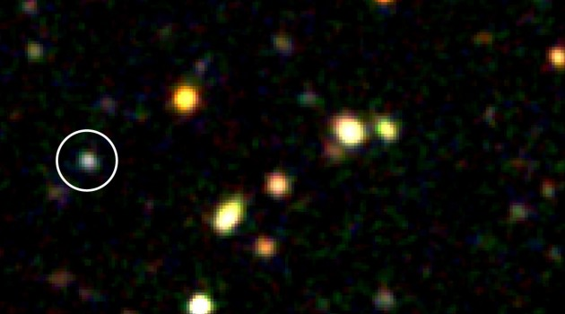Dying star illuminates distant galaxy, lifting veil of interstellar darkness for astronomers