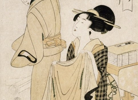Geisha Hairstyling, ca. 1927, a silent black & white archival film clip from the Smithsonian's Human Studies Film Archives