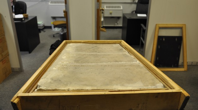 Thomas Jefferson's original grave marker. The marker, which has been stored at Missouri University for the past 130 years, will be restored by the Smithsonian Museum Conservation Institute.