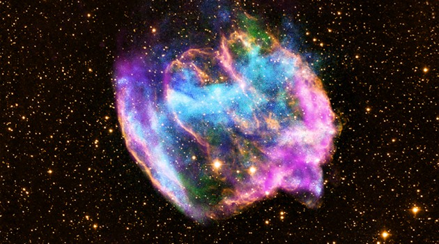 Highly distorted supernova remnant seen by Chandra X-ray Observatory