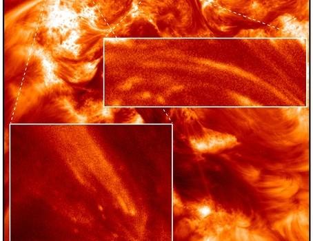 Camera captures sun's atmospheric sparkles