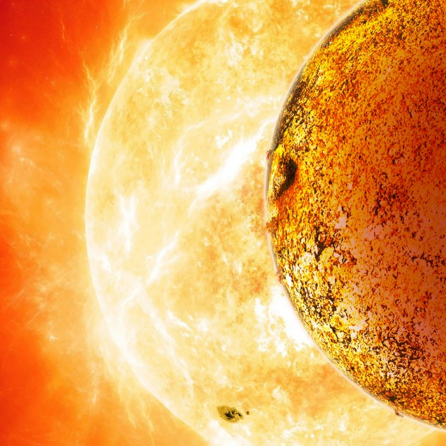 Kepler-78b is a planet that shouldn't exist. This scorching lava world, shown here in an artist's conception, circles its star every eight and a half hours at a distance of less than one million miles. According to current theories of planet formation, it couldn't have formed so close to its star, nor could it have moved there. (David A. Aguilar, CfA)