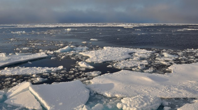 As Arctic sea ice melts, new sea routes are connecting the Atlantic and Pacific Oceans for the first time in 2 million years. (Patrick Kelley/U.S. Coast Guard)
