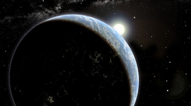 Artist's conception of a hypothetical exoplanet orbiting a yellow, Sun-like star. Astronomers have measured the ages of 22 Sun-like stars using their spins, in a method called gyrochronology. Before now, only two Sun-like stars had measured spins and ages. (Image by David A. Aguilar, CfA)