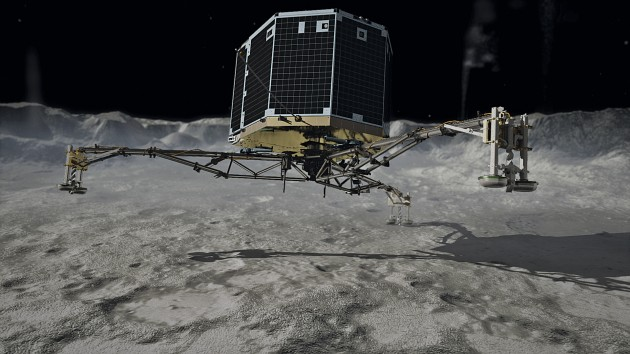 Philae's touchdown on the comet - artist's depiction .(Image: DLR German Aerospace Center)