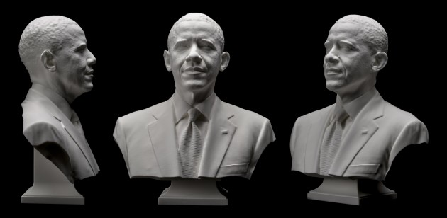 3-D–printed bust of President Obama created by the Smithsonian using 3-D scanning technology (Photo courtesy of Digital Program Office / Smithsonian Institution)