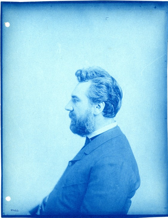 Alexander Graham Bell (1847-1922), Scottish-born inventor and scientist, lived for many years in Washington, D.C. As a young man, he consulted physicist Joseph Henry, the first Smithsonian Secretary, about the feasibility of his telephone invention and was greatly encouraged by Henry. He considered Henry as an important mentor and supported the Smithsonian in many ways. Bell served as a citizen member of the Smithsonian Board of Regents, provided seed money for the Smithsonian Astrophysical Observatory, donated collections to the National Museum, and arranged for the move of James Smithson's remains from Genoa, Italy, to the Smithsonian Institution in 1904.