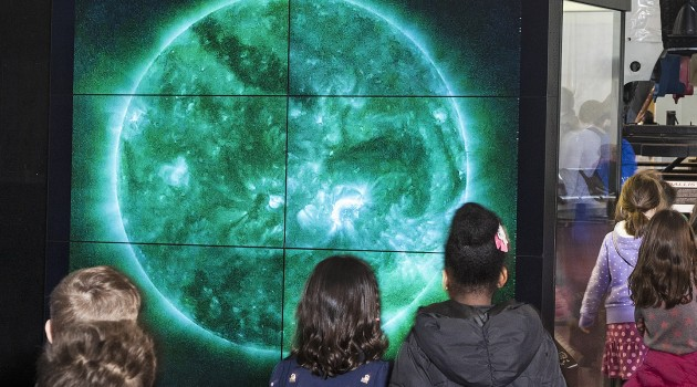 Video from Solar Dynamics Observatory wows museum visitors
