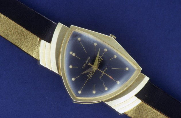 Hamilton Ventura, one of the very first electric watches that ran on a battery.