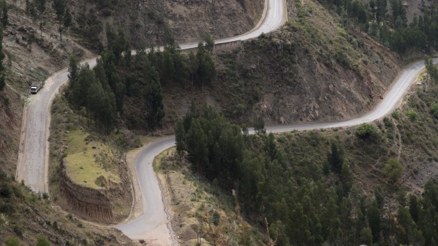Modern Andean highways. Near Q'eswachaka, Canas Province, Peru, 2014. (Photo by Doug McMains, National Museum of the American Indian)