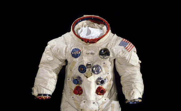 This spacesuit was worn by astronaut Neil Armstrong, Commander of the Apollo 11 mission, which landed the first man on the moon on July 20, 1969. (Image by Mark Avino, National Air and Space Museum)