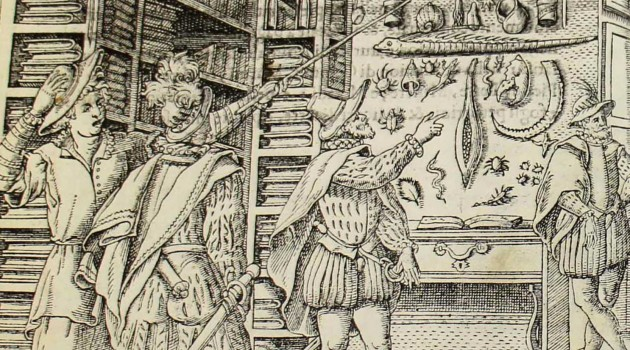 "Collection of Curiosities Ferrante Imperato, ""Dell'historia natural,"" 1599 (detail)"