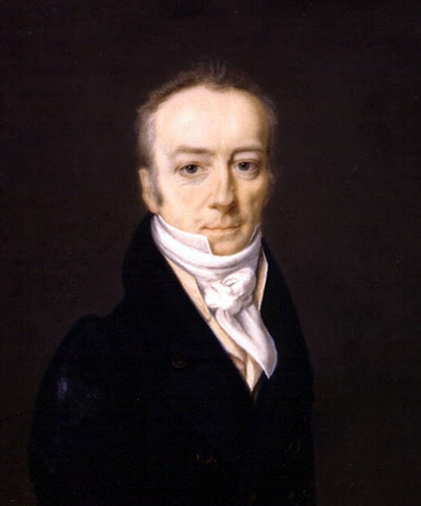 This portrait of Smithson painted by Henri Johns in 1816, is one of the rare images of the philanthropist scientist.