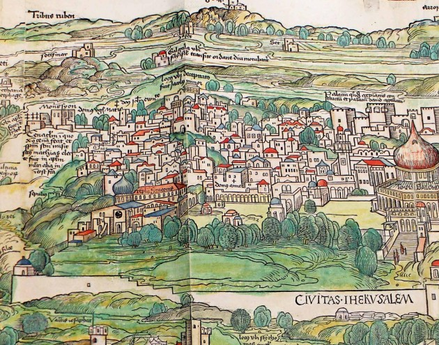 "An illustration from Bernhard von Breydenbach's ""Journey to the Holy Land,"" 1483-84 (detail)"