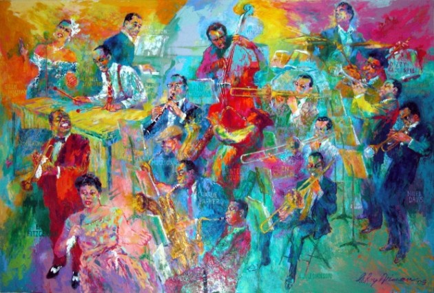 """Big Band,"" LeRoy Neiman, 2005"