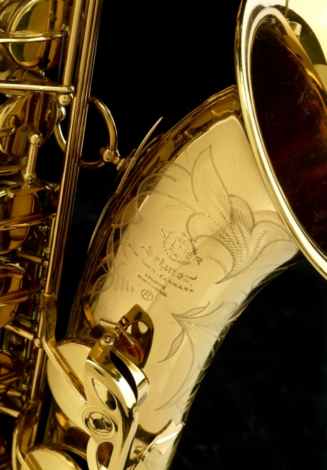John Coltrane's Selmer Mark VI tenor saxophone (Photo by Hugh Talman, Smithsonian)
