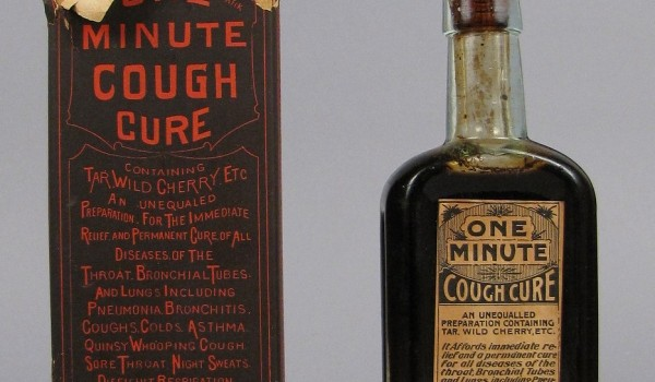 One Minute Cough Cure, 1894–1906, National Museum of American History