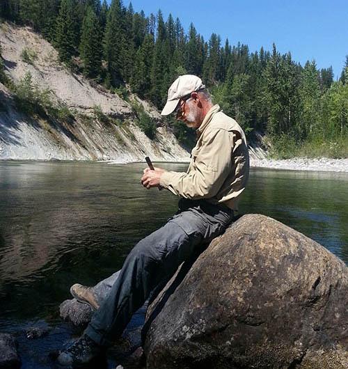 Dale Greenwalt on the Flathead River (Jill Warren photo)
