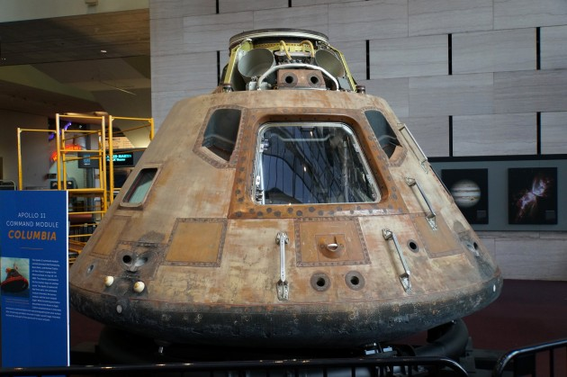 The Apollo 11 Command Module Columbia on exhibit at the Smithsonian's National Air and Space Museum in Washington, D.C. (credit: John Gibbons)