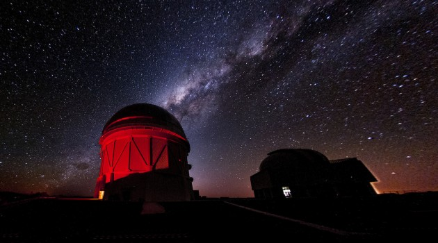 The Dark Energy Survey uses a 570-megapixel camera mounted on the Blanco Telescope in Chile to image 5,000 square degrees of southern sky. The survey has already discovered more than 1,000 supernovae and mapped millions of galaxies to help us understand the accelerating expansion of our universe. (Image by Fermilab)