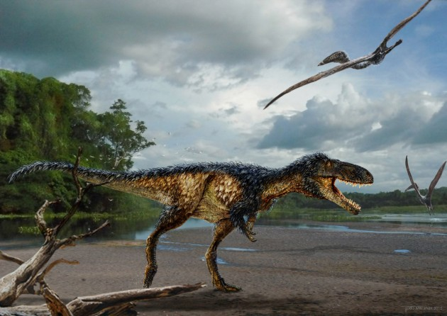 "Life reconstruction of the new tyrannosaur ""Timurlengia euotica"""