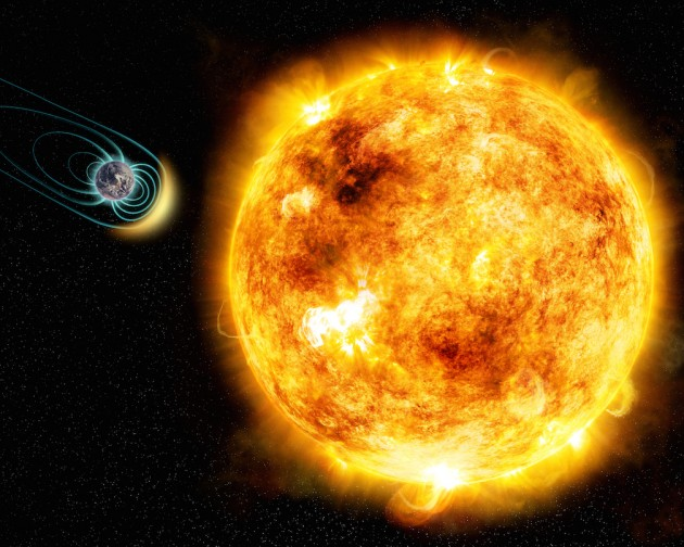 artist's illustration of the young Sun-like star Kappa Ceti