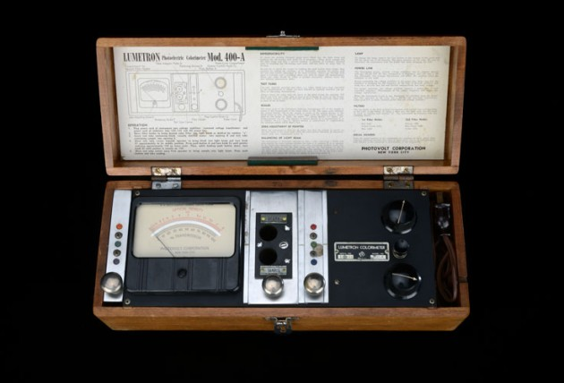 Colorimeter used by enologist Andre Tchelistcheff