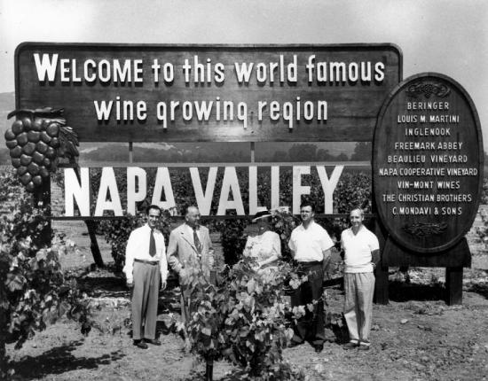 Napa Valley Vintners' Association sign