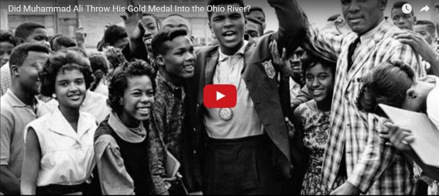 Is it true that boxing legend Muhammad Ali threw his Olympic gold medal into the Ohio River out of frustration after a racist encounter? A childhood friend weighs in on a story that has become part of the champion's lore. (Smithsonian Channel)
