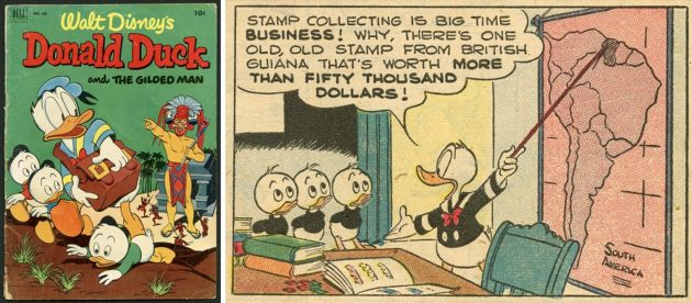 comic book Donald Duck and the Gilded Man