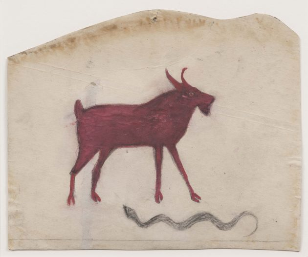 Red Goat with Snake