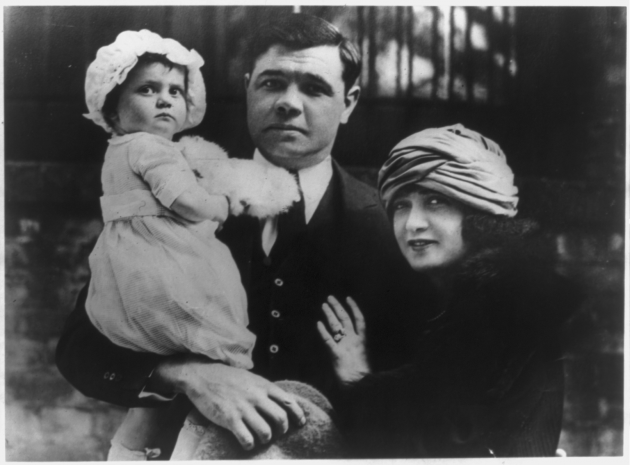 Babe Ruth and first wife Helen Woodford, by Underwood & Underwood; gelatin silver print 1925 (Prints & Photographs Division, Library of Congress, Washington, DC)