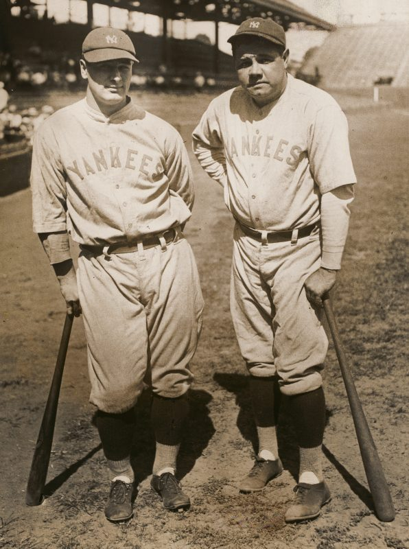 Lou Gehrig and Babe Ruth by unidentified artist, gelatin silver print, c. 1931 (National Portrait Gallery, Smithsonian Institution)