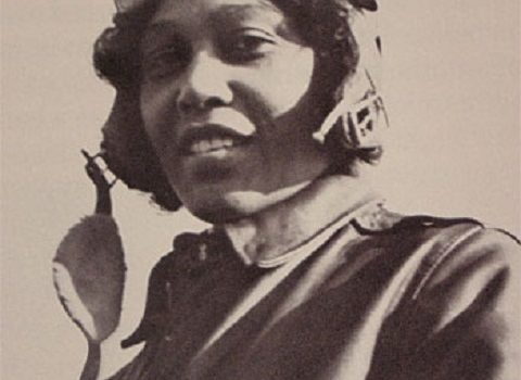 Janet Harmon Bragg in her flight suit, c. 1930s, by unidentified photographer, Smithsonian  Institution Archives, RU 9545, Still image from Video History Interview Session 1 Tape 1.