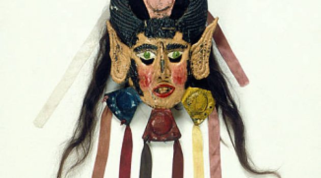 Traditional Mexican dance mask representing La Malinche (Courtesy National Museum of Natural History)
