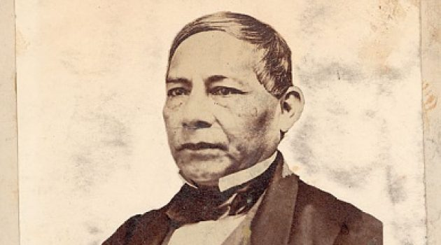 Portrait of Benito Juarez, President of Mexico, in 1865 (courtesy of the  Smithsonian's National Anthropological Archives).